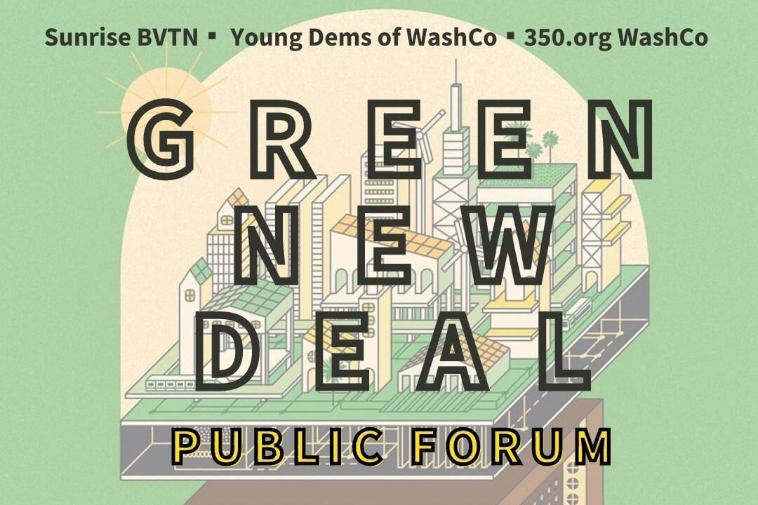 green new deal public forum poster