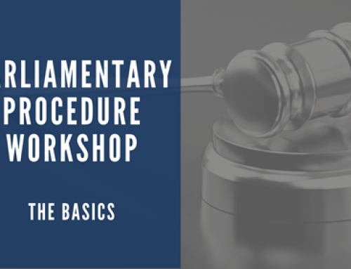 ONLINE TRAINING: Parliamentary Procedure – The Basics – APR 29th
