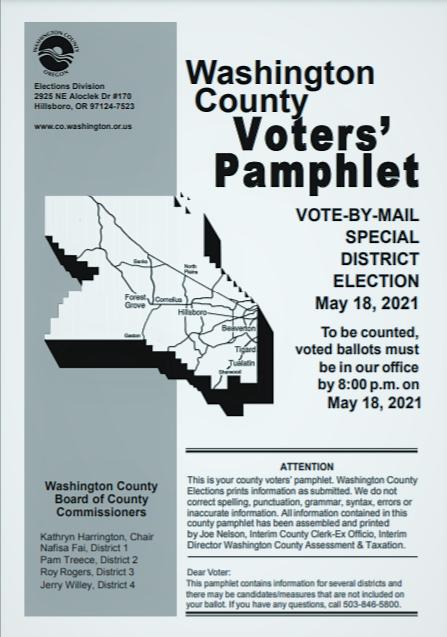 screenshot of the may 2021 washington county oregon voter pamphlet